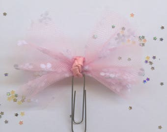 Tulle bow clip