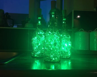 Lucky Buddha Green LED Bottle Lights