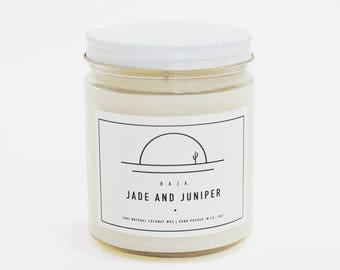 Baja Scented Candle 100% Coconut Wax Eco Friendly
