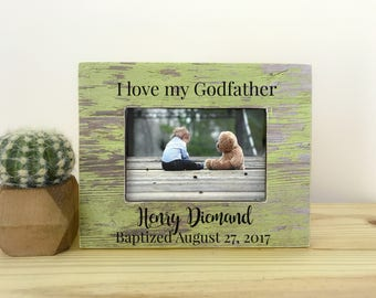Godfather Frame Godparents Frame Godmother Gift Goddaughter Godson Frame Godparents Thank You Gift Baptism Dedication Christening Gift
