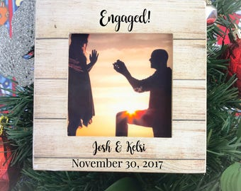 Christmas Ornament Personalized Engagement Ornament Christmas Engagement Ornament Christmas Gift Engagement Party