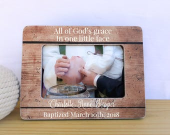 Baptism Dedication Christening Frame Gift Personalized Goddaughter Godson Frame Godparents Thank You Gift