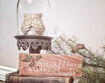 2 Sided Sign Holiday Sign Seasonal Sign Christmas Sign Fall Sign Thanksgiving sign