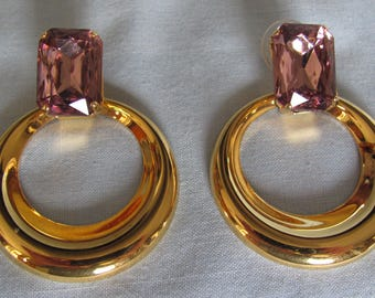 70's Vintage Pierced Earrings