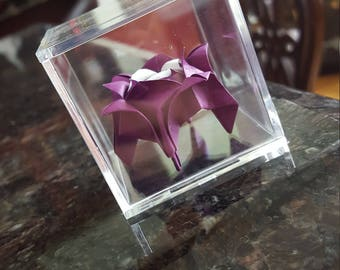 Origami rose, created with 60 folds of patience and passion!
