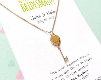 Will you be my Bridesmaid? • Bridesmaid proposal • Breakfast at Tiffany's necklace • Bridesmaid necklace • Asking gifts