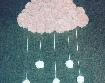 Pink cloud child's room decor