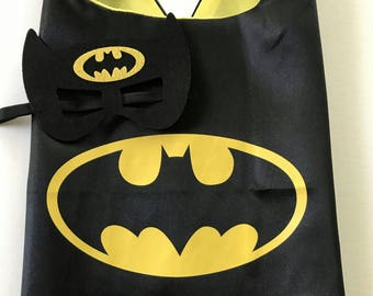 Batman Cape Set, Batman Cape, Batman Party Favors, Batman Birthday, Batman, Batman Party, Batman Cape, Superhero Party Favors,Batman Costume