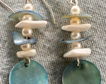 Stylish Silver Plated Sea/Shore Inspired Earrings