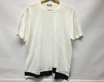Vintage 80's Comme Des Garcons Homme Black White Issey Miyake Yohji Yamamoto Gaultier kansai bape Junya Watanabe Number nine Visvim wtaps