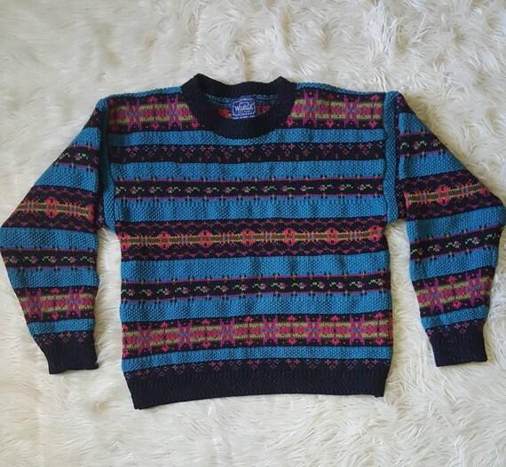 Vintage 90s ladies wool sweater. Vintage 90s Woolwich sweater size Large