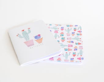 Cacti Notebook Set Pink A5