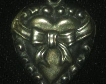 Vintage Sterling SilverPuffy Heart Repousse Sweetheart Charm
