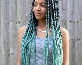 Mint Jumbo kanekalon hair for braiding