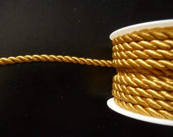 Gold twisted cord 4 mm