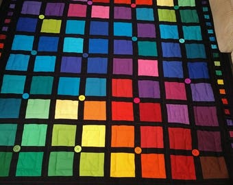 Color Study quilt throw