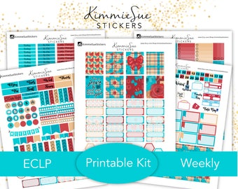Printable Planner Stickers | EC vertical Weekly Kit | Erin Condren Planner | PDF Trace Files | Planner Printable | Stickers Printable
