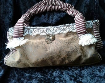 Victorian Steampunk  Top Handle Purse