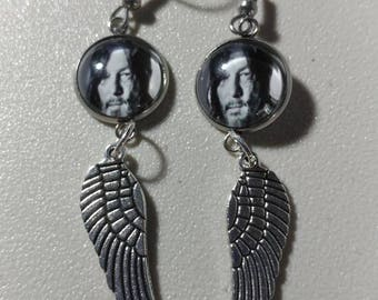 Daryl Dixon black and white with Angel Wings