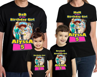 Toy Story Birthday Shirt Personalized Name and Age Customized Toy Story Shirt Birthday Party Favors