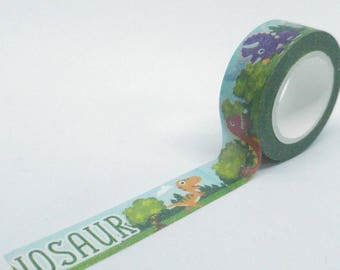Washi Tape patterns dinosaurs funny multicolor 10Mx15mm