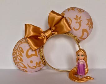 Custom Tangled ears, Disney Park ears, Disney Rapunzel ears, Tangled print headband, Theme Park Ears, The lost princess