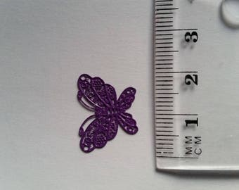 "Filigree metal purple ""Butterfly"" charm"