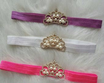 Princess Tiara Stretch Headbands