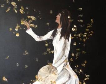 woman in Asia, vietnam, imagination, colours, ao dai