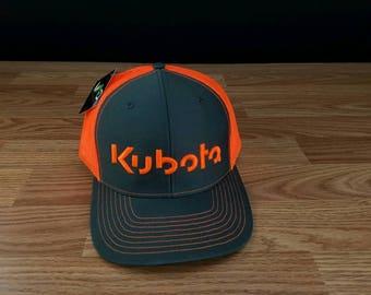 kubota hat, Kubota, Kubota trucker hat, Kubota tractor, vintage, farm, Lebanon kubota, Keller bros, farmer, orange kubota farm, snapback cap