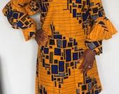 African print dress Bela