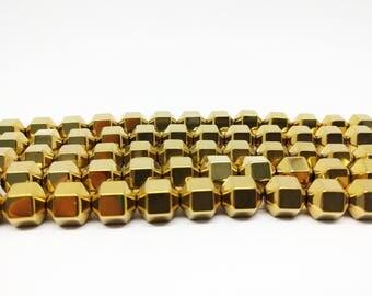 Hematite Beads Golden Hematite Beads for Jewelry Making 10mm Gold Beads 10mm Beads 10mm Jewelry Beads Bracelets Beads for Bracelets Malas