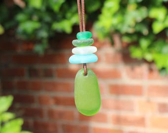 green sea glass pendant beach jewellery ocean pendant sea glass necklace sea foam pendant beach wedding glass necklace mothers day necklace