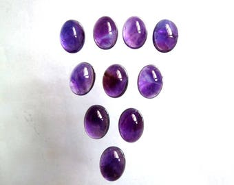 Amethyst, Natural Amethys Oval,Round,Cushion Purple Amethyst cabochon, Ring Pendant Necklace Making Gemstones, Jewelry, Handmade Gemstone