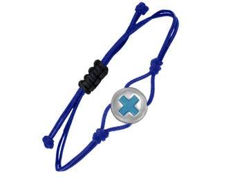 Cross silver charm bracelet, Christian jewelry, religious gift, baptism bracelet, Christian bracelet, religious jewelry, first communion