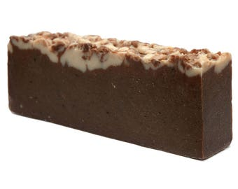 Chocolate Olive Oil Handmade Soap Slice