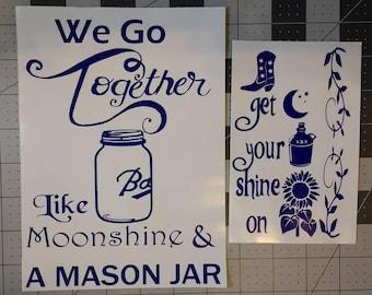 Moonshine Kitchenaid Mixer Decal