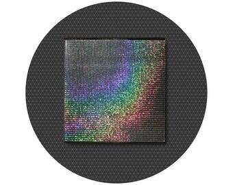 Black sparkle blank book 140x140 mm