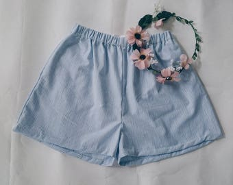 Dreamy Shorts - Sky Blue Pinstripe