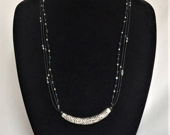 Crescent Silver Necklace