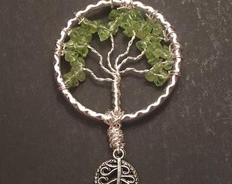 Light Green Crystal Tree of Life