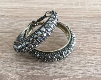 Handmade Earrings, topped with glitter stones