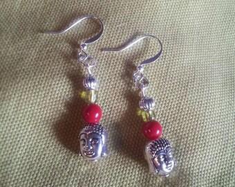 Tibetan beads and Buddha earrings
