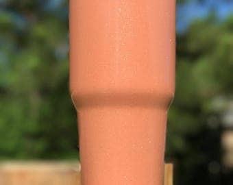 Peach Ice Cream Powder Coated Tumblers and Can Coolers, Yeti, Ozark Trail, Rtic