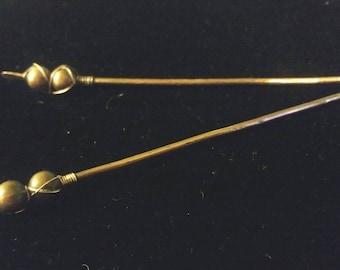 Hand Hammered Copper Hair Sticks