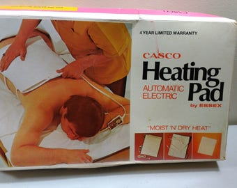 Vintage Casco Heating Pad Automatic Electric by Essex Moist or Dry Heat