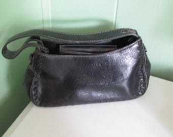 Black Leather Kenneth Cole Reaction Purse