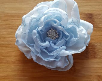 Chiffon flower 'Alexandra' hair clip