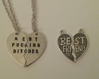 Besties charm necklaces 2 in a set