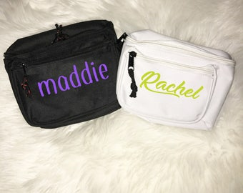 Custom Fanny Pack- Waist Bag, Embroidered Fanny Pack, Cute Fanny pack, Name Fanny Pack,Bachelorette Fanny Pack, Bachelorette Party Gifts